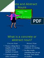 Nouns Concrete Abstract