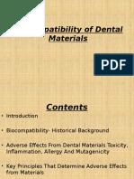 bio compatibility of dental materials