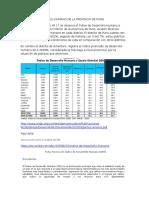 Indice de Desarrollo Humano de La Provincia de Puno