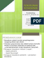 Penurunan Kesadaran (Dr. Usman, Sp.s) 28102016
