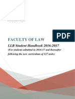 Llb Handbk 1617 (for Students Admitted in 2016-17 and Thereafter Following the New Curriculum of 127 Units)
