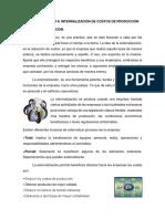 Externalización e Internalización de Costos de Producción