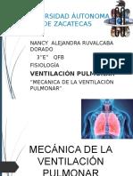 Mecanica de La Ventilación Pulmonar