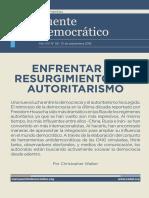 ENFRENTAR RESURGIMIENTO DEL AUTORITARISMO (por Christopher Walker)