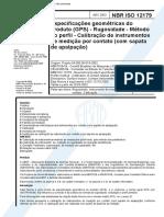 NBR 12179 - Especificacoes Geometricas Do Produto (GPS) - Rugosidade - Metodo Do Perfil - Calibra