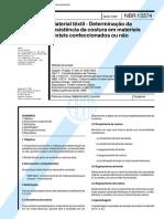 NBR 13374 - 1995 - Material Textil - Determinacao Da Resistencia Da Costura Em Materiais Texteis