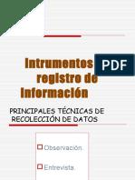 Instrumentos de registro de información