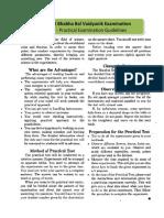 Std VI Dr Homi Bhabha Practical Exam Guidelines