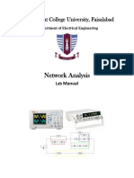 NEtwork Analysis Latest Lab Manual