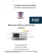 Lab Manual Electronic Devices and Circuits Practical 2