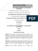Ley Del Medio Ambiente de Nicaragua