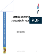Monitoring Parameters in Anaerobic Digestion Processes