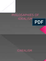 Philosaphies of Idealism