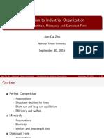 Lecture 2 Handout (Industrial Organization)