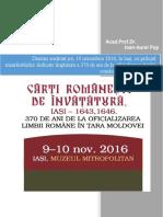 De ce Carte românească de învățătură? de Acad.Prof.Dr. Ioan-Aurel Pop, rectorul UBB