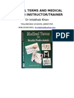Medical Terms and Medical English Instructor