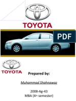 Presentation on toyota by MIAN >M .Shahnawaz