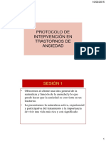 Protocolo Terapéutico Act en Ansiedad