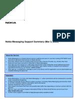 Nokia Messaging Support Summary Mar0509