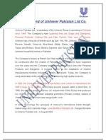 strategic management project on unilever by MIAN M SHAHNAWAZ
