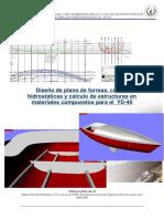 Disec3b1o de Plano de Forma Del Buque