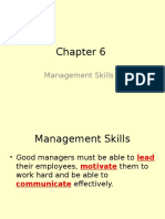 chapter 6 - management skills 1