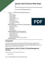 Cisco Change Management Best Practices