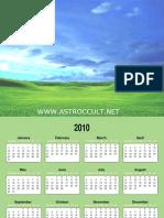 Photo Calendar 2010