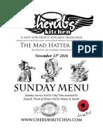 13112016 Sunday Menu - Hatter