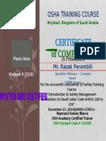 Certificte for Pk Abs