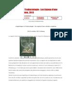 Linguistique Et Traductologie