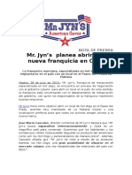 Franquicia Mr. Jyns Gobierno Cubano