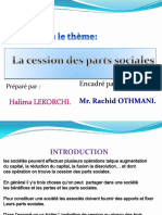 Cession Des Parts Sociales Power