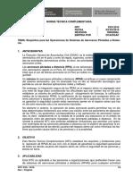 NTC Requisitos Operaciones de RPAS