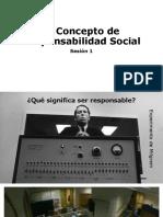 Sesión 1 Responsabilidad Social