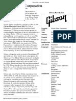 Gibson Guitar Corporation -