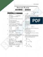 AIIMS Paper 2004