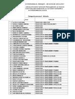 lista nominala cu personalul angajat - an scolar 2016-2017