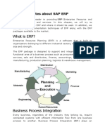One Stop Notes About SAP ERP