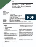 NBR 11376 - Mb 3253 - Moinho de Bolas - Determinacao Do Indice de Trabalho