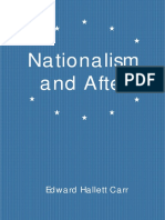 Edward Hallett Carr Nationalism and After