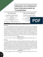 8. Peña, A. E., & Bastidas, M. C. (2007). La ética, fundamento en la adopción de las normas internacionales de contabilidad. Actualidad Contable FACES, 10(14), 118-128..pdf