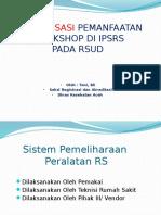 Presentasi Optimalisasi Workshop 23 April 16