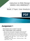 MMDS1400 L3 2009 User Analysis