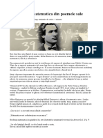 Eminescu Și Matematica Din Poemele Sale