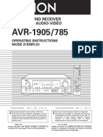 Avr-1905 785 Ownersmanual
