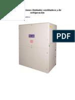 Especificaciones Unidades Ventiladora y de Refrigeración