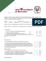 cuestionario empresarial