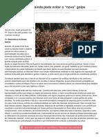 Outraspalavras.net-Boaventura Brasil Ainda Pode Evitar o Novo Golpe