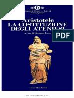 Aristotele - La Costituzione Degli Ateniesi